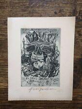 "Ex Libris Michel Fingesten ""Delage"""