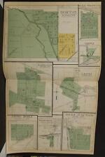 Michigan Jackson County Map Horton Napolean Leoni  1911  Double Page  Y10#04