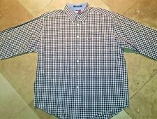 Tommy Hilfiger Long Sleeve Button Front Plaid Oxford Shirt Cotton  XL