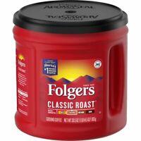 Folgers Classic Roast Ground Coffee  Medium Roast  30.5 oz    *FREE SHIPPING*