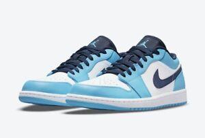 Nike Air Jordan 1 Low UNC White Powder Blue Obsidian 553558-144 Size 12.5
