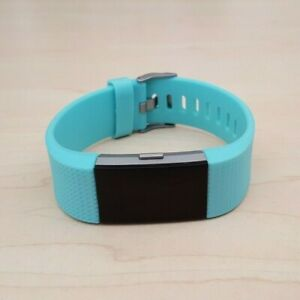 Fitbit Charge 2 Heart Rate Fitness Activity Tracker Teal Blue Wristband Small