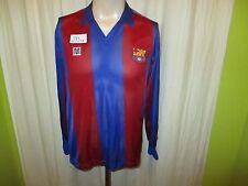 "FC Barcelona  Meyba Langarm Trikot 1984-1989 ""ohne Hauptsponsor"" + Nr.11 Gr.S"