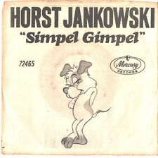 HORST JANKOWSKI--PICTURE SLEEVE + 45---(SIMPEL GIMPEL)---PS--PIC--SLV