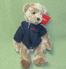 FAO Schwarz DOG New Old Stock Blue Jacket Tush Button EAR TAG Plush Toys R Us