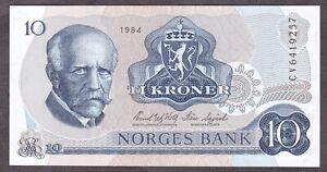 Norway 10 Kroner 1984 UNC!!!