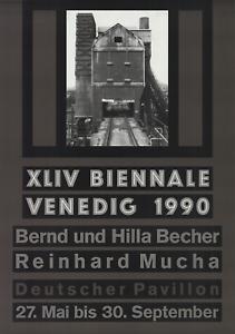 BERNHARD AND HILLA BECHER XLIV Biennale Venedig 1990 37.75 x 26.5 Offset Lithogr