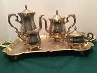 Antique International Gold Plated and Silver Plated Coffee & Tea Service