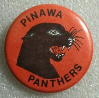 "Pinawa Panthers Local Sports Team Pinback Button - Approx. 2.25"" Across"