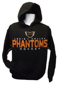 New Lehigh Valley Phantoms Hockey Mens S-M-L-XL-2XL Black G-III Hoodie