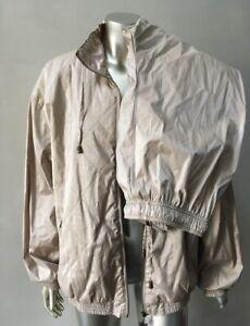 Windbreaker 2 Piece Quilted Vintage Warm Up metallic Pants Suit L