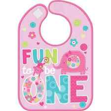 One Wild Girl Baby Bib FIRST (1st) Birthday Party Supplies Fun To Be One Decor