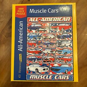 Hennessy Puzzles 1000 Pieces All-American Muscle Cars EUC