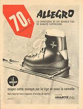 Publicité Advertising 1965  Chaussures de ski ALLEGRO double tige JALLATTE