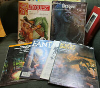 Dungeons & Dragons ad&d tsr 6 book lot modules dragon magazine runequest d&d