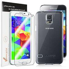 [+Clear Screen Shield] Crystal Hard Case for Samsung Galaxy S5 i9600,Clear Rear