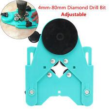 Adjustable 4mm-80mm Diamond Drill Bit Glass Hole Saw Guide Sucker Base Locator