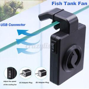 100-240v Hanging Fish Tank Fan Aquarium Cooling Fan Mini USB Chiller