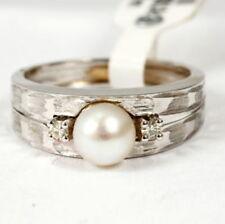 Unbehandelte Ringe mit Perlen aus Zucht 17,5 mm Ø () von 55
