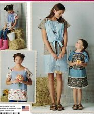 8087 Simplicity Pattern Misses & Girls Pullover Dress & Top Sz 3-8/XS-XL NEW UC