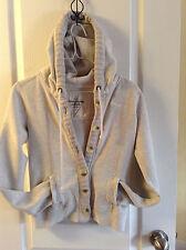 ABERCROMBIE & fitch hoodie button up sweatshirt sweater jacket coat LOGO XS / S