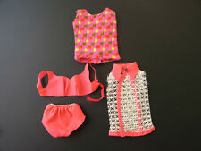 Vintage 1966 Barbie Doll Original Orange swimsuit 4Pc. #1160 #1115  ·Mod.