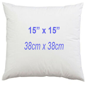 15 x 15 Inch Sofa Cushion Pad Square Hollowfibre Inner 38 x 38cm Extra Filled