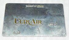 Rare Vintage Ultrair Metal Ticket Validation Plate Travel Airlines