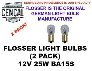FLOSSER LIGHT BULB 12V 25W BA15S 1156,7582 88254023344 (QTY 2)   8671