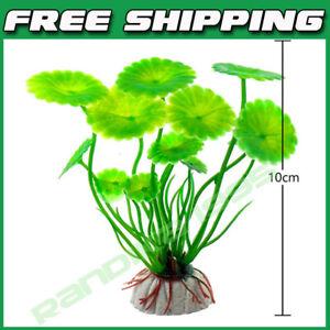 Aquarium Decoration Plastic Plants Green Accessories For Fish Tank Daffodil New
