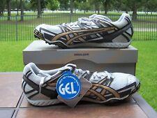NEW Asics Gel Dirtdog 2 XC/Track Spikes Men's Size 12 1/2 Silver/Gold/Black