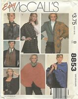 McCall's 8853 Misses'/Miss Petite Cape, Cover-Up, Shawls and Scarves    Pattern