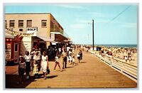 Rehoboth Beach, Delaware postcard, beach boardwalk people, Old Pro Golf, DE