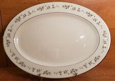 """Lenox BROOKDALE 15"""" Oval Serving platter, 15 3/4"""", Medium, Platinum, Excellent"""