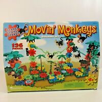 Movin' Monkeys Building Set Gears Construction Toy Incomplete 128 Pieces Jungle