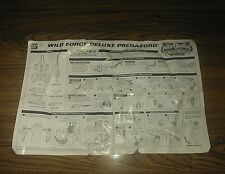 Power Rangers Wild Force PREDAZORD Megazord Original Instruction Sheet