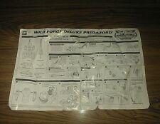 Power Rangers Wild Force PREDAZORD Megazord Original Instruction Sheet