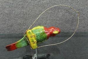 VTG Ceramic Hanging Parrot Planter Red Green Yellow