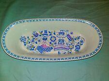 Figgjo Lotte Oval Baking Dish 11 Inch Norway Blue Purple Green People Bird