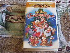 AN ALL DOGS CHRISTMAS CAROL VHS FAMILY HOLIDAY MOVIE CARFACE ITCHY SASHA CHARLIE