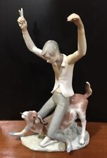 Lladro Statue 14.5� Tall Man Riding A Cow Very Rare