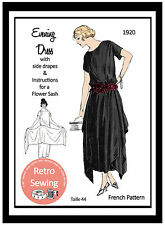 1920s Evening Dress Sewing Pattern