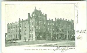 Wichita Falls KS Outside the St James Hotel 1907