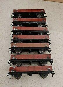 Hornby Dublo D1 20 Ton Tube Wagon 32076 Metal Brown W73349 joblot 7