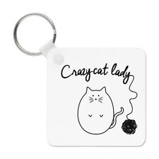 I Suffer From Obsessive Cat Disorder OCD Keyring Key Chain Crazy Cat Lady Funny