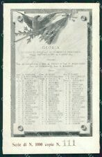 Militari 11º Reggimento Fanteria Caduti cartolina XF0043