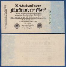 500 Mark 1922 fast KASSENFRISCH / aUNC Ro.71b / P.74b