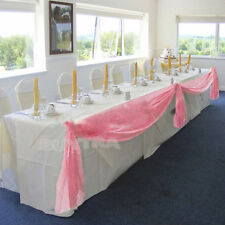 Adorable Table Swags Sheer Organza Fabric DIY Wedding Party Bow Decorations TSUS