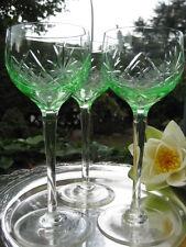 6 sehr elegante Jugendstil Weingläser aus Uranglas