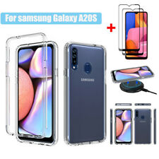 For Samsung Galaxy A20S Shockproof Armor Bumper Hard Case Cover+Screen Protector